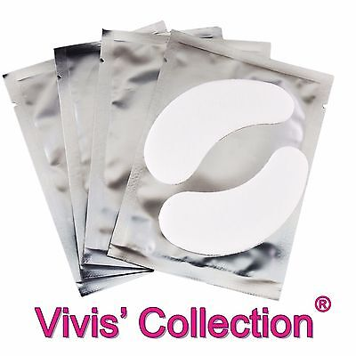 1 / 10 / 50 Pairs of Lash Extension Under Eye Pads Lint Free Eyelash Gel Patches