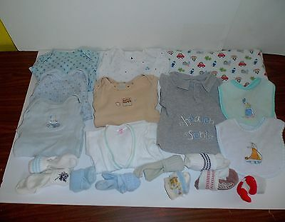 3-6 Months Lot of 24 shirts bodysuits baby shirts tops one-pieces Socks