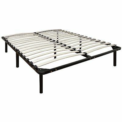 Classic Brands Europa Wood Slat and Metal Platform Bed Frame Mattress Foundat...