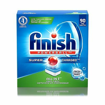 Finish Dishwasher Detergent Soap All in 1 Powerball Fresh 90 Tablets 90 Count