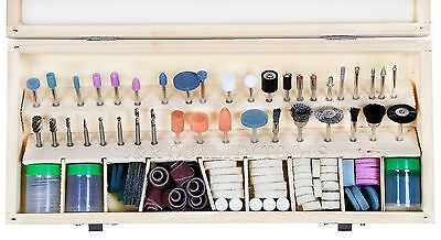 """ULTIMATE 228 Pc Rotary Power Tool Bit Set For Grinder 1/8"""" Shank Grinding Polish"""