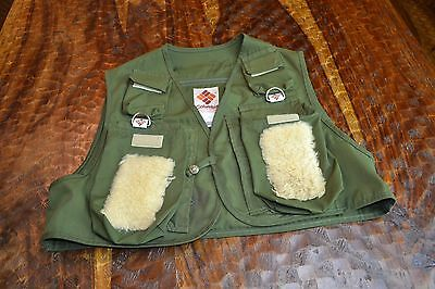 Columbia ~ Kids Youth Medium ~ Fishing Vest ~ Button Front ~ Army Green