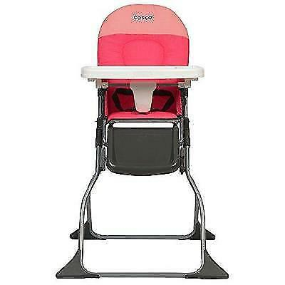 Cosco Simple Fold High Chair, Colorblock Coral New