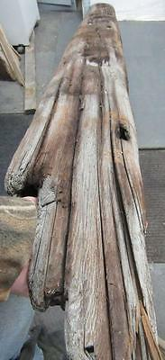 "89"" Driftwood Beam Reclaimed Fireplace Mantle Shelf Taxidermy Beach 7x7 BM89-1"