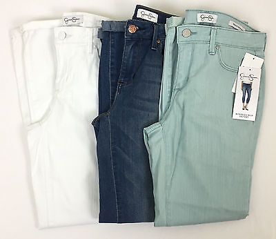 New Jessica Simpson Ladies' Rolled Cropped Stretch Soft Sculpt Skinny Jeans