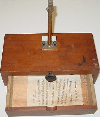 Voland & Sons Balance Analytical Scale Parts Wood Box New Rochelle N.Y Chemical