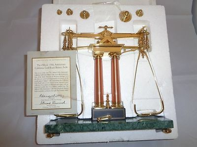 Franklin Mint 150Th Anniversary California Gold Rush Assayer's Scale & 5 Weights
