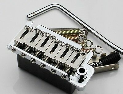 "Genuine Steel 2 Point Strat Tremolo Bridge Assembly 2 1/16"" Spacing 4 USA Fender"