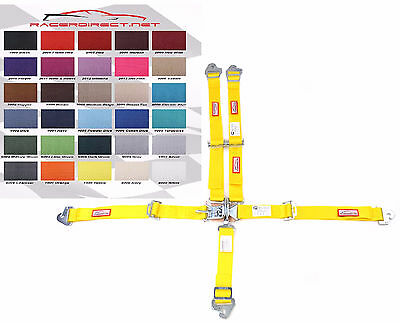 Jr Racing Harness Sfi 16.1 5 Pt Latch & Link Roll Bar Mount Yellow 30 Colors
