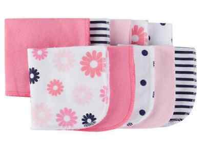 New Baby Girl Infant GERBER 10 Pack Terry Printed Solids Washcloths