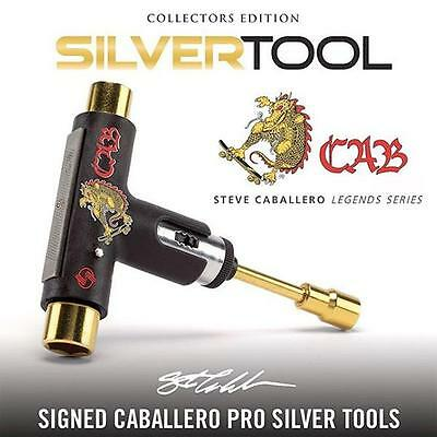 Silver Skate Tool Caballero Premium Ratchet Complete Skateboard T-Tool Limited