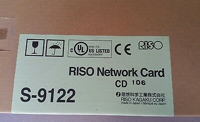 Riso Network Card  S-9122  GENUINE OEM SEALED new