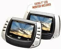Curtis Portable Dual Screen Mobile DVD Player DVD8722 Factory Refurbished