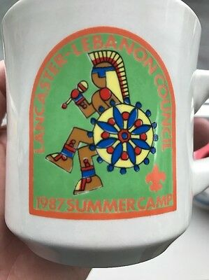 1987 Boy Scouts of America Coffee Mug CUP LANCASTER-LEBANON COUNCIL Summer Camp