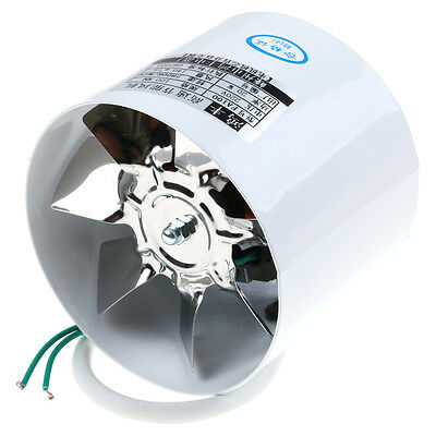 Steel 4'' Inline Ducting Fan Booster Exhaust Blower Air Cooling Filter Vent Fan~