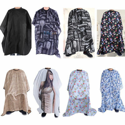 Waterproof  Adult Cloth Hair Cut Hairdressing Hairdresser Barber Cape Gown Cloak