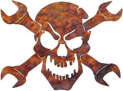 DXF CNC dxf for Plasma Laser  Router  Vector Metal Wall Art Dxf Wrench Skull