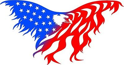 DXF CNC dxf for Plasma Laser  Router  Vector Metal Wall Art Dxf Large Eagle Flag