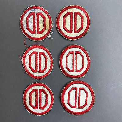 WW2 US Army  31st  Infantry Dixie Division Patch Cut Edge No Glow Lot of 6