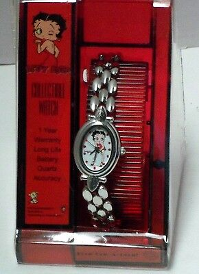 Collectible BETTY BOOP LADIES WRIST WATCH-Quarts-2002  -Mint in Case Works Great