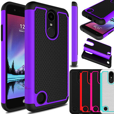 For LG Phoenix 3/Rebel 2/Fortune/Risio 2 Hybrid Shockproof Hard Armor Case Cover