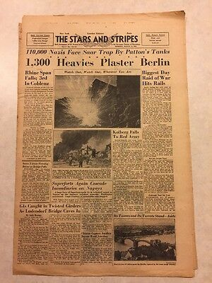 Stars and Stripes March 19, 1945 1300 Heavies Plaster Berlin