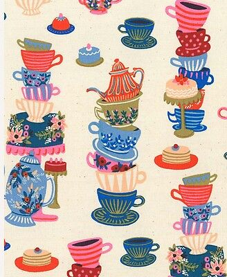 Mad Hatters Tea Party Fabric * Wonderland  * In Stock * Free Post *
