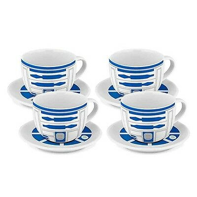 Star Wars Tea Cups And Saucers R2-d2 Set Of 4  - BRAND NEW