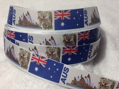 Australia 25mm  Grosgrain Ribbon 3 Meter Length Hair Bow Craft Sewing Scrapbook