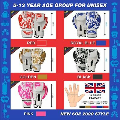 Kids Boxing Gloves  6oz Sparring Training Kick-Boxing Mitts MMA Punch Pro