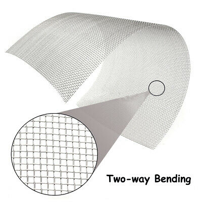 8 Mesh 304 Stainless Steel Woven Wire Filtration Filter Screen Sheet 300 x 600mm