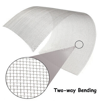 8 Mesh Stainless Steel Woven Wire Filtration Filter Screen Sheet 30x60cmm 24x36""