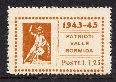 Italy WWII patriotic poster stamp