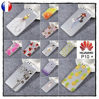 Etui housse coque silicone transparente Slim TPU Case Cover Huawei P10 + Plus