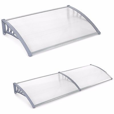 VonHaus Door Canopy Awning Shelter Front & Back Porch Shade - Patio Roof Cover