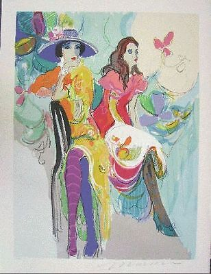 Isaac Maimon Original Serigraph Hand Signed Numbered Limited Les Coquettes