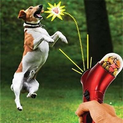 Pet Cute Dog Treat Launcher Food Training Feeders Catapult Outdoor Cat Puppy Toy