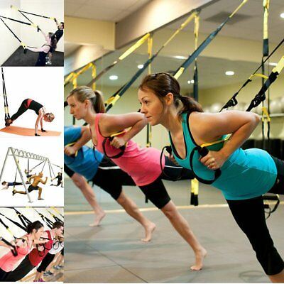 Suspension Trainer Strength Training Crossfit Gym Strap Home Workout/Door Anchor