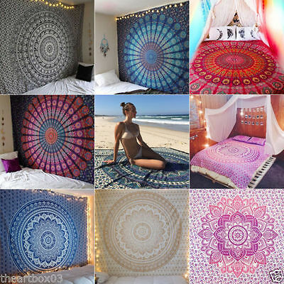 Twin Hippie Tapestry Wall Hanging Indian Mandala Tapestries Bedspread 210X150 CM