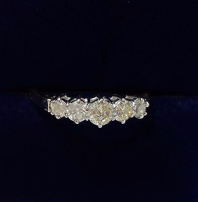 0.50ct Five Stone Diamond Ring in 9ct Yellow Gold - Size P