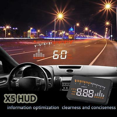 "3"" X5 Car GPS HUD Head Up Display KMH MPH Speed Warning Alarm Voltage Monitor SX"
