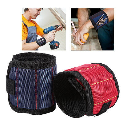 Strong Magnet Wristband Adjustable Wrist Bands Screws Nails Nuts Bolts Tools D2