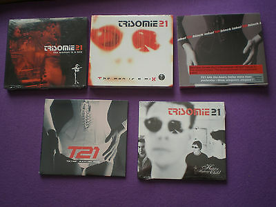 TRISOMIE 21 Lot Of 5 CD SEALED! French SYNTH POP ELECTRONIC