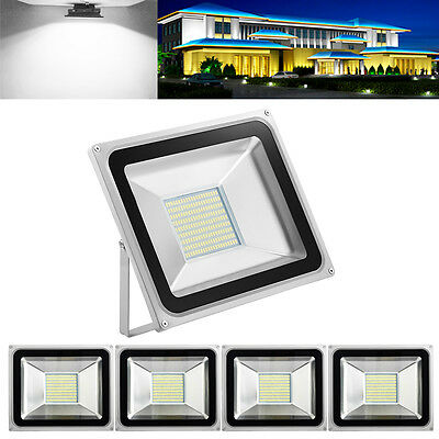 5X 100W LED Flood Light Outdoor Garden Lamp Floodlights IP65 Cool White AC 220V
