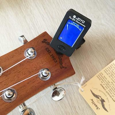 Digital Guitar Tuner LCD For Electronic Chromatic Violin Ukulele Bass Clip on SX
