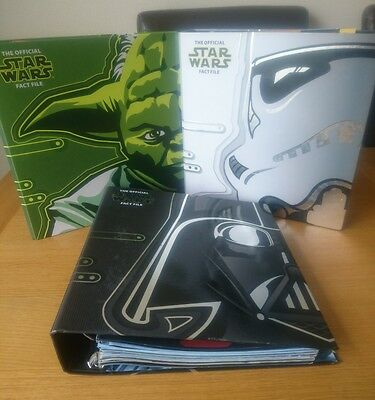 Star Wars Fact File Official Binders Folders Mixed Issues