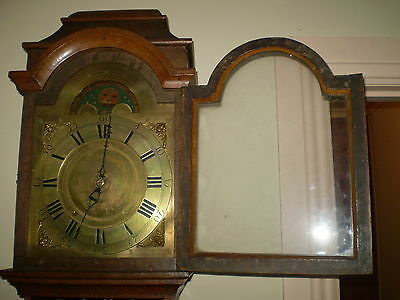 Amsterdammertje Rarest signed Dutch clock runs strikes Moon phase above dial