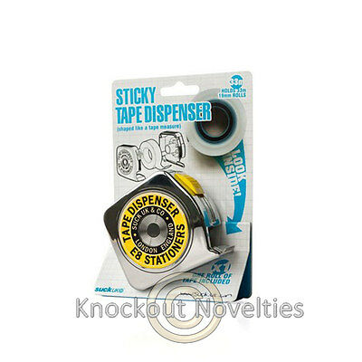 Sticky Tape Dispenser Funny Novelty Desk Office School Supply Supplies