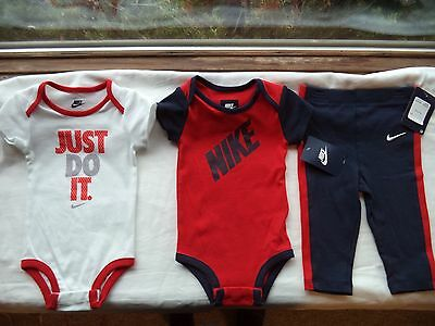 NWT Baby Boy's Nike Outfit Size 9-12 Months 2 Shirt & Pants Retail $44