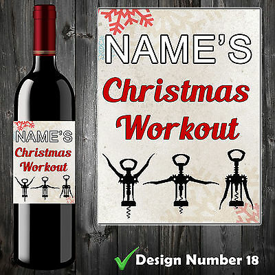 Personalised Funny Wine Bottle Label - Birthday Christmas Gift Adult Humour P&p!